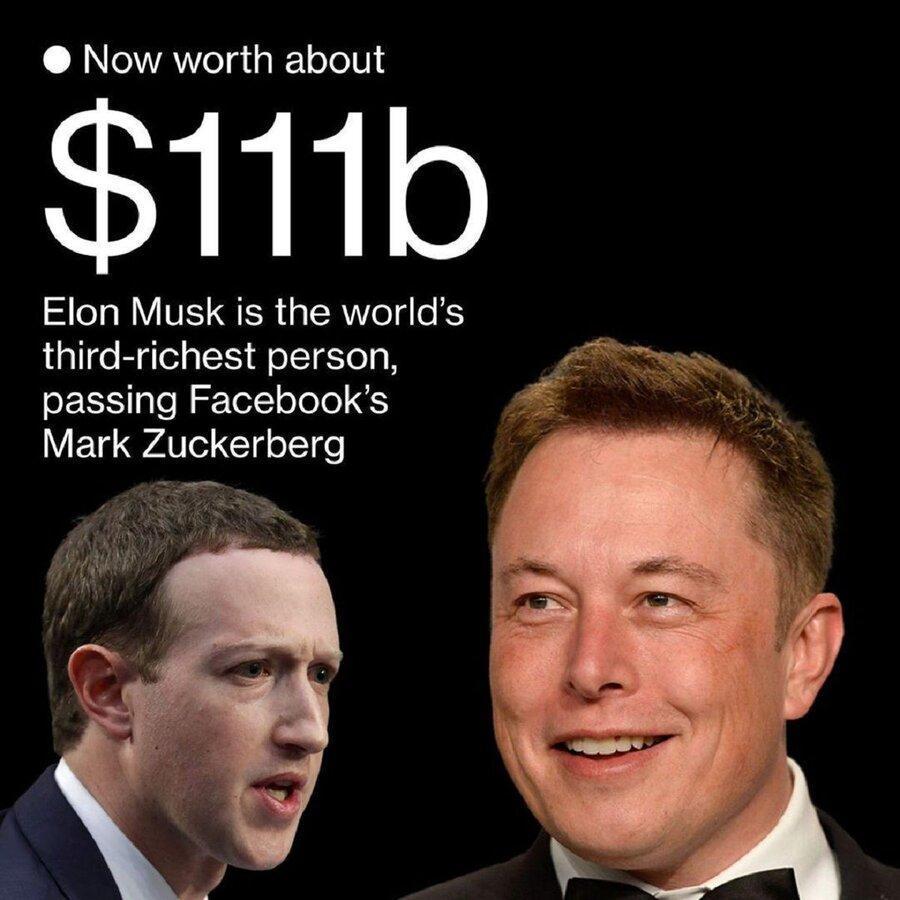 ایلان ماسک سومین فرد ثروتمند دنیا شد ، دلیل رتبه تازه ماسک در جمع ثروتمندان دنیا