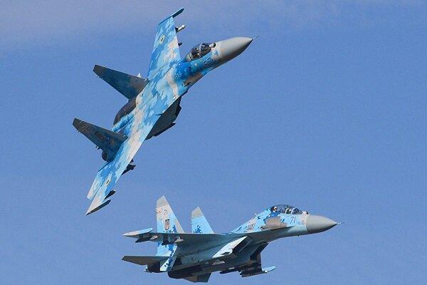 پرواز جنگنده روسیه برای دورکردن هواپیماهای آمریکائی و آلمانی