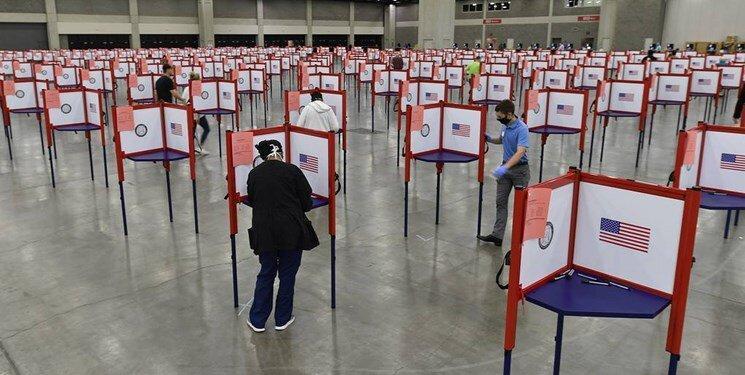 دستگاه های رأی گیری در یک ایالت آمریکا از کار افتاد