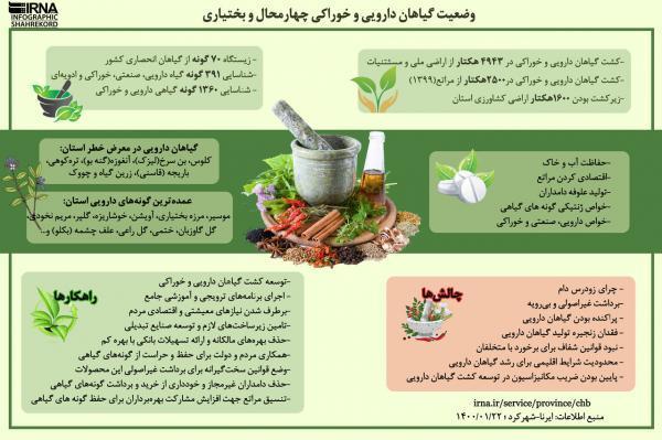 خبرنگاران اینفوگرافیک: گیاهان دارویی و خوراکی چهارمحال و بختیاری