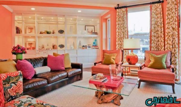 تاثیر رنگ مرجانی در دکوراسیون داخلی منزل