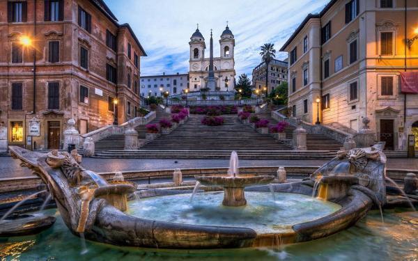 مقاله: پله های اسپانیایی رم (ایتالیا)