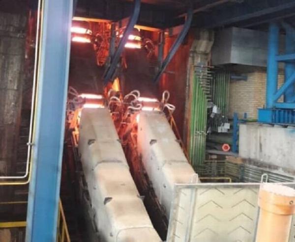 فراوری بزرگترین شمش فولادی خاورمیانه به روش ریخته گری پیوسته در اسفراین