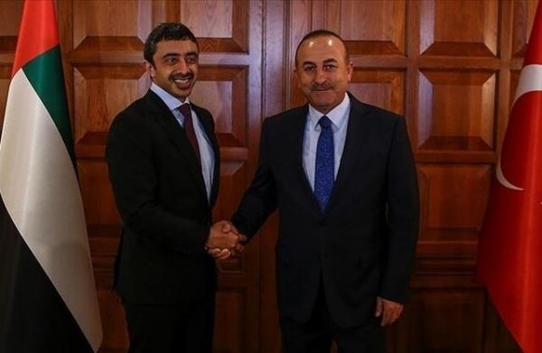 رایزنی وزرای خارجه امارات و ترکیه درباره روابط دوجانبه